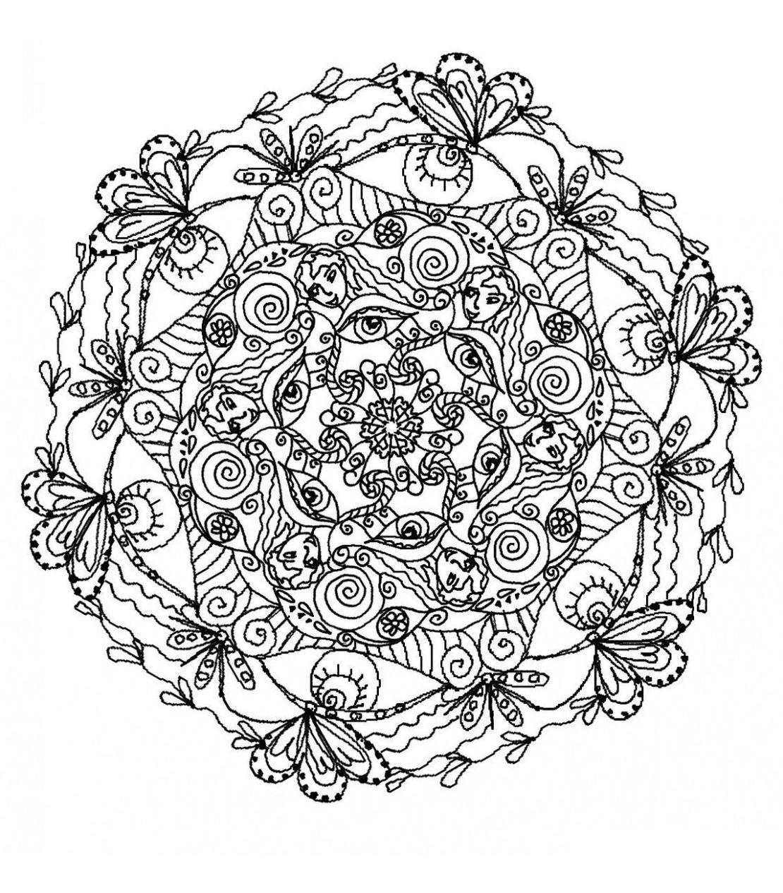 Coloriage Mandala Complique.Pour Imprimer Ce Coloriage Gratuit Coloriage Mandala Difficile 5