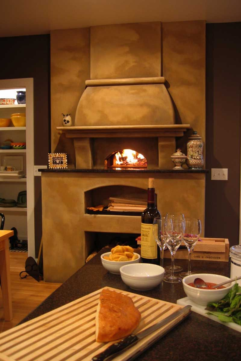 Mediterranean wood fired pizza oven - Wood Burning Pizza Oven For The Home Mediterranean