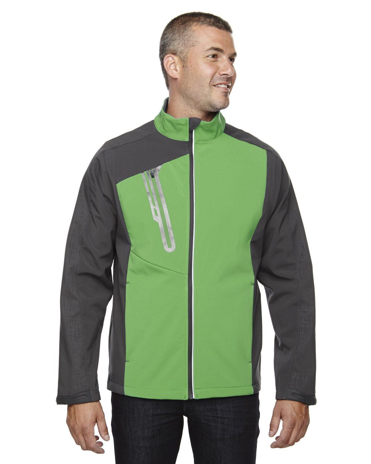Ash City - North End Men's Terrain Colorblock Soft Shell with Embossed Print 88176 VALLEY GREEN 448