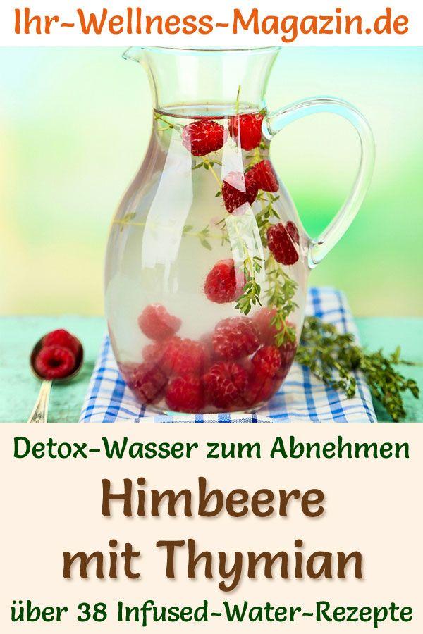 Himbeer-Thymian-Wasser - Rezept für Infused Water - Detox-Wasser