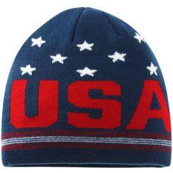 a593d27e15b Navy Red Team USA Scripto Knit Beanie