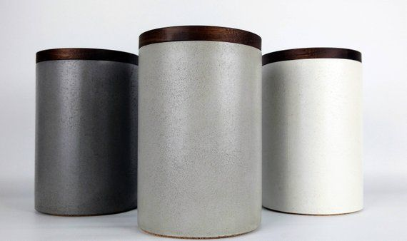 Kitchen Canister Concrete, Canister Modern, Kitchen Storage ...
