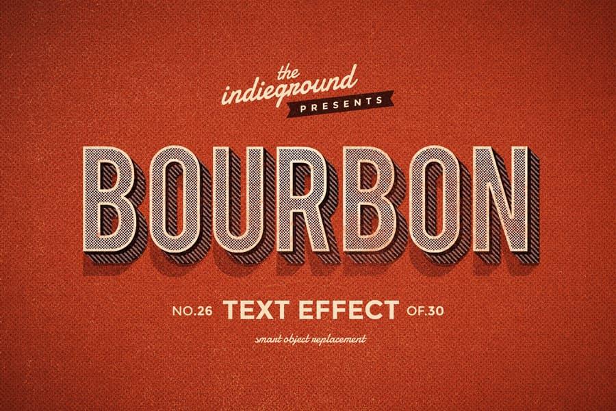 Retro Vintage Text Effect N 26 Indieground Design Retro Text Text Effects Vintage Text