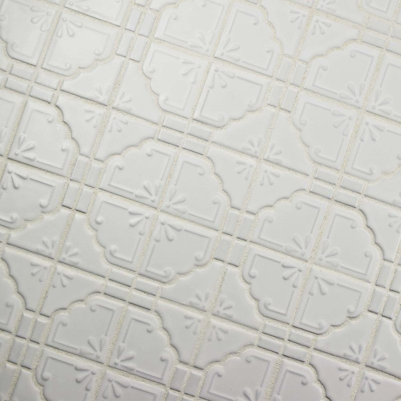 Moonlight 12 Quot X 12 Quot Porcelain Mosaic Tile In Matte White