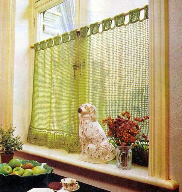 Casinha Bonitinha: 15 cortinas de crochê para você se inspirar
