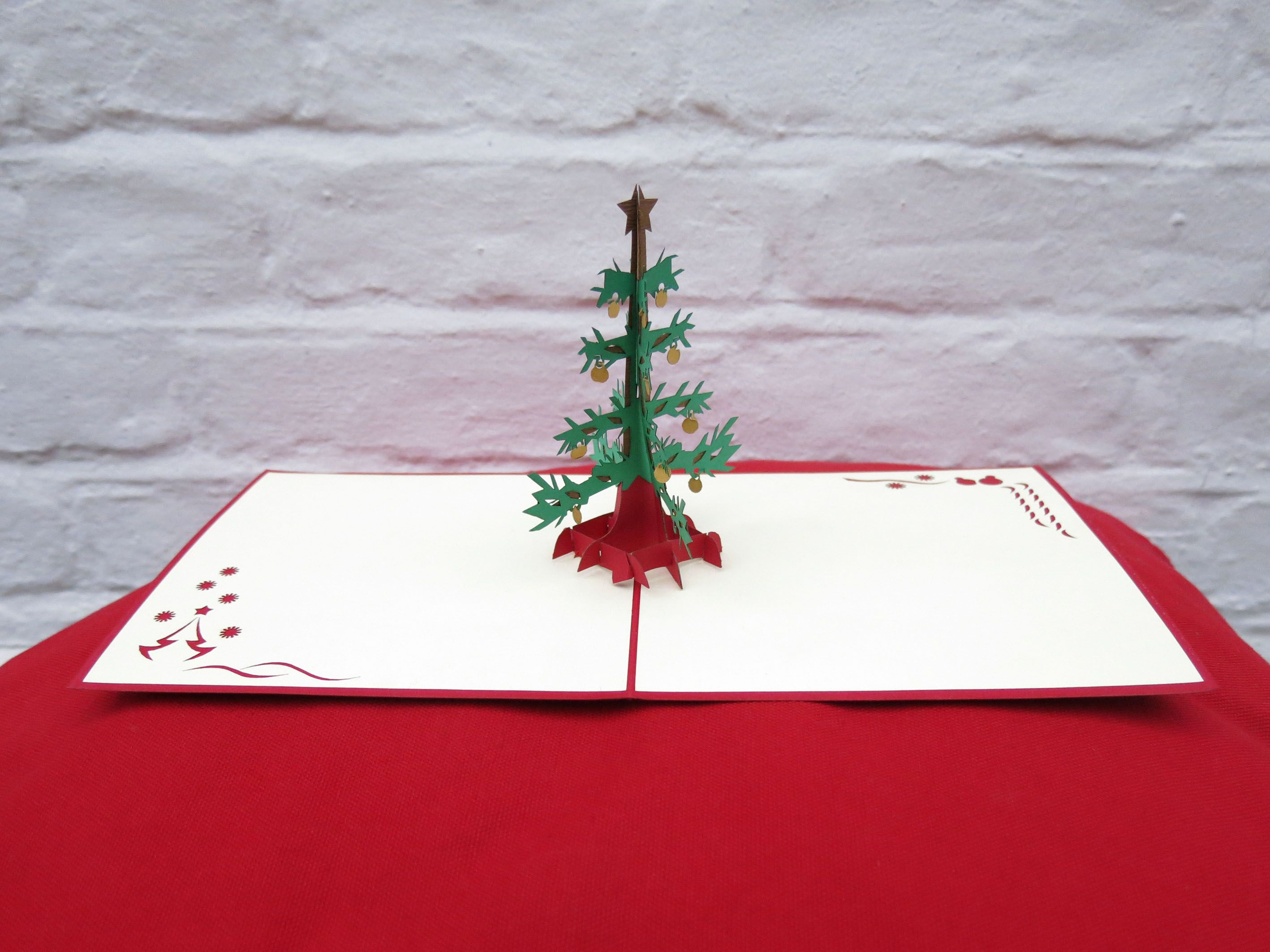 Our Christmas Tree 3D Pop Up Greeting Cards / Christmas Cards are ...