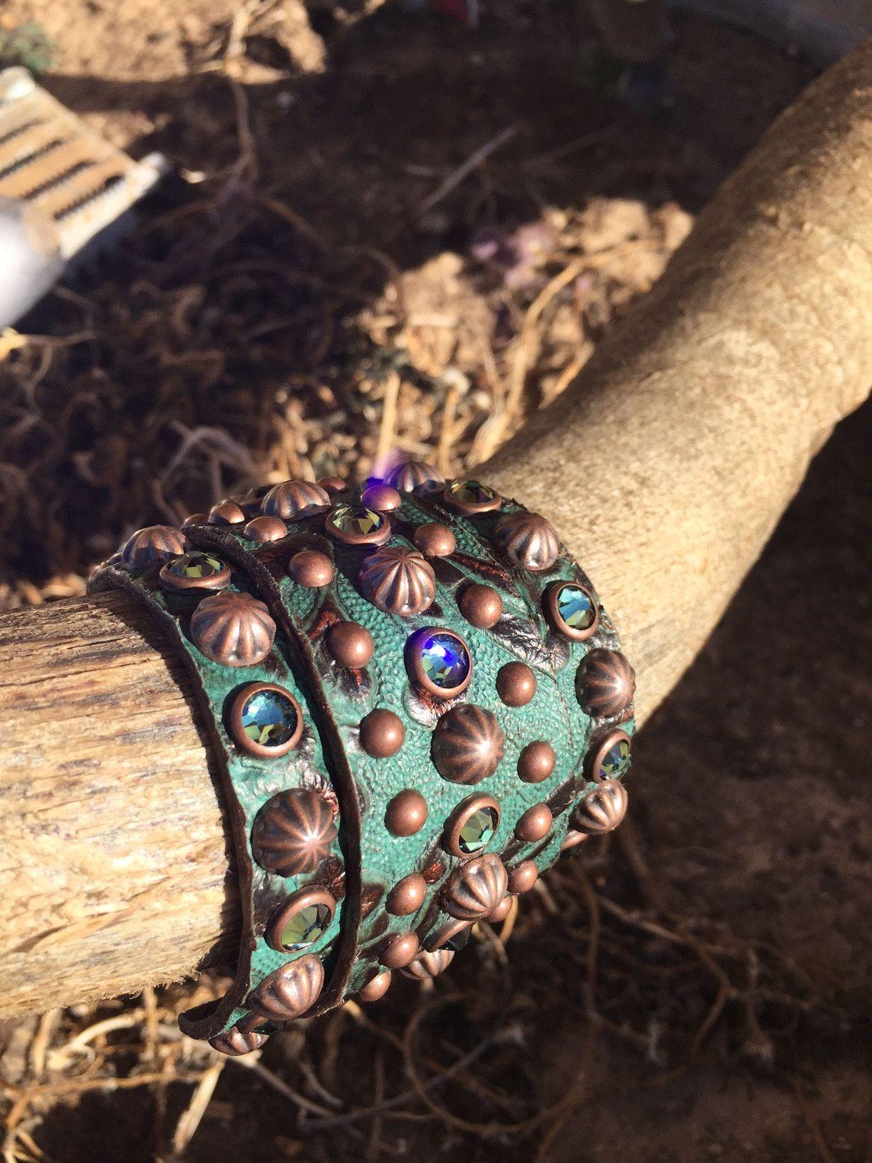 The Rowdy Cowgirl Green Gunslinger Bracelet