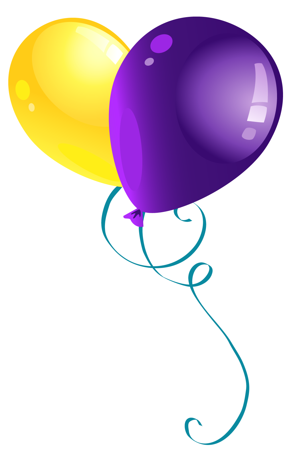 Yellow and Purple Balloons PNG Clipart Picture ...