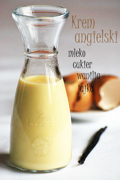 Krem Angielski Culinary Recipes Food And Drink Food