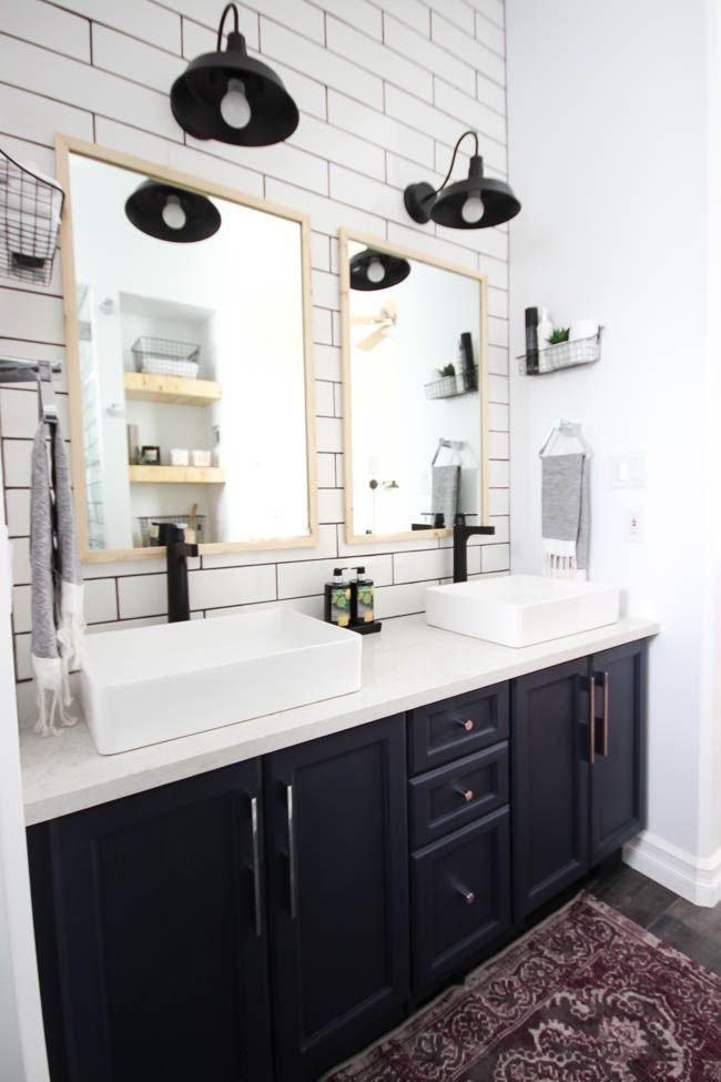 Modern Bathroom Reveal Modern Bathroom Small Bathroom