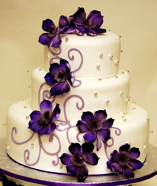 Wedding Cake Purple Wedding Cakes Dark Purple Wedding Wedding