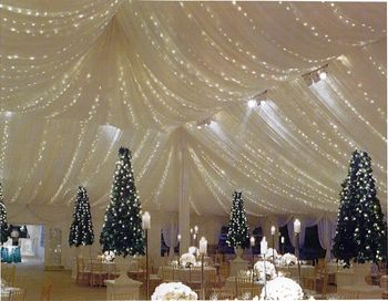 Tent With Lights Wedding Rentals Chicago IL