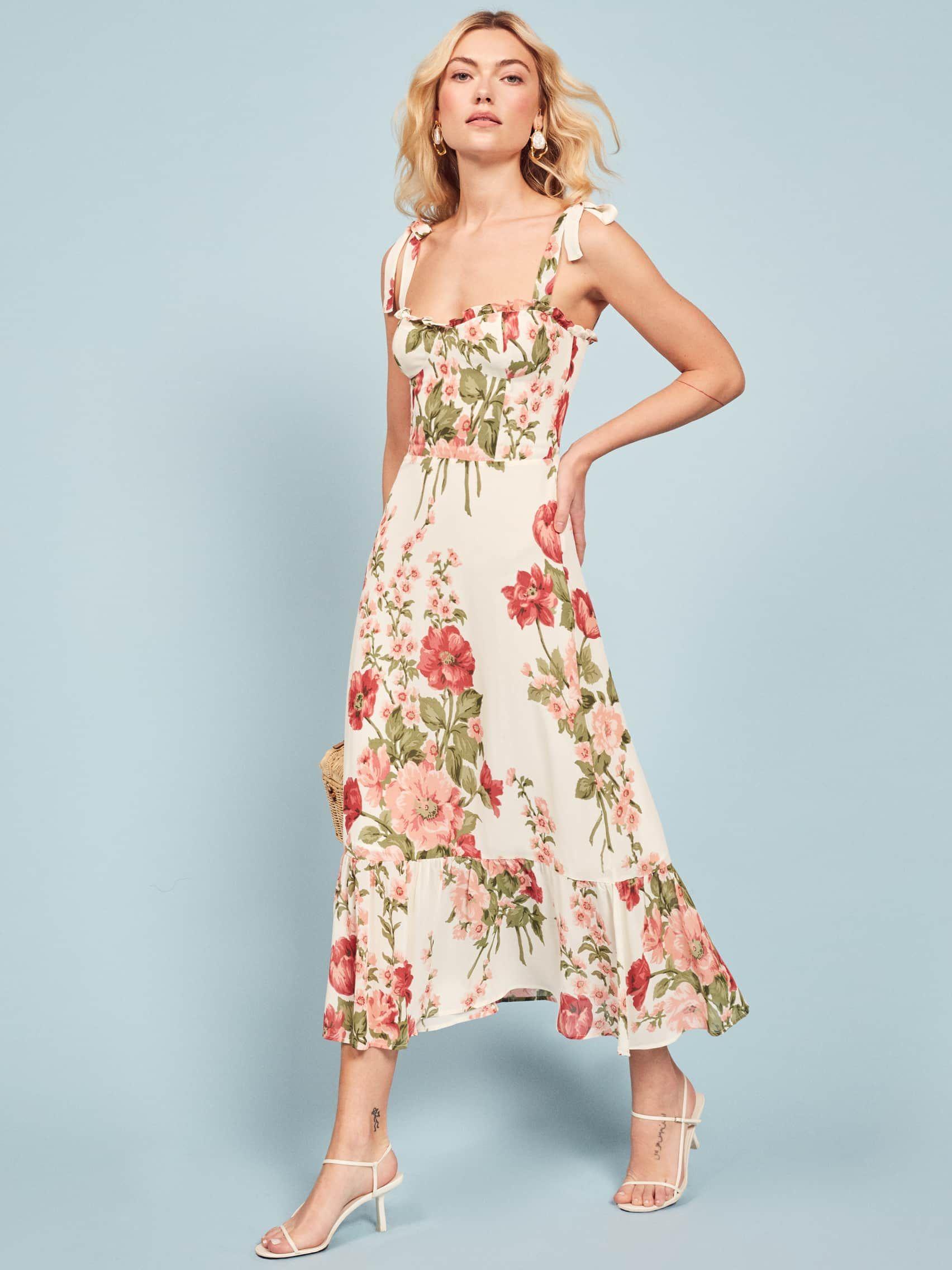 Nikita dress reformation dress dresses midi ruffle dress