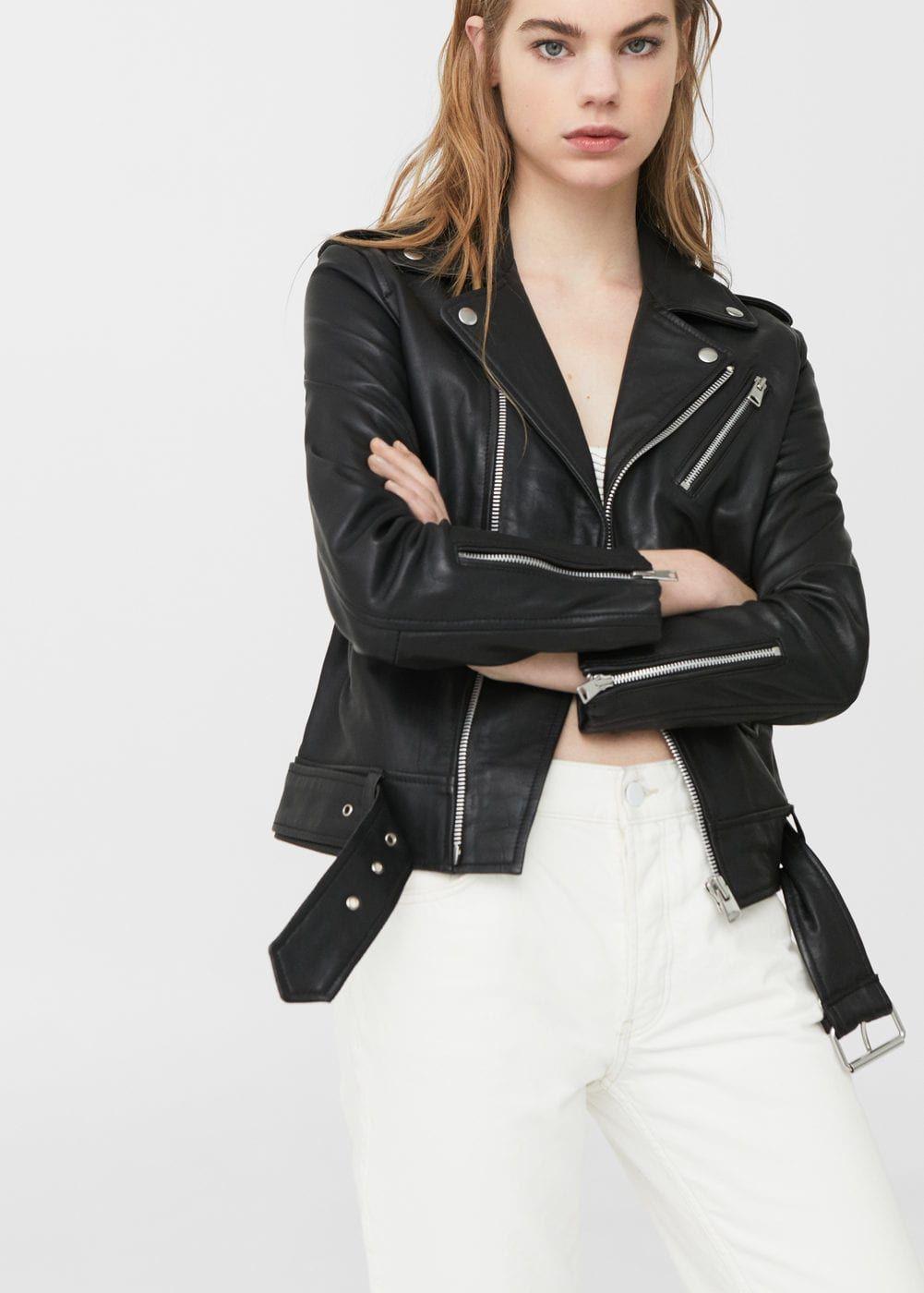 fca45926f5845 Leather biker jacket - Women | Jackets | Perfecto cuir femme ...