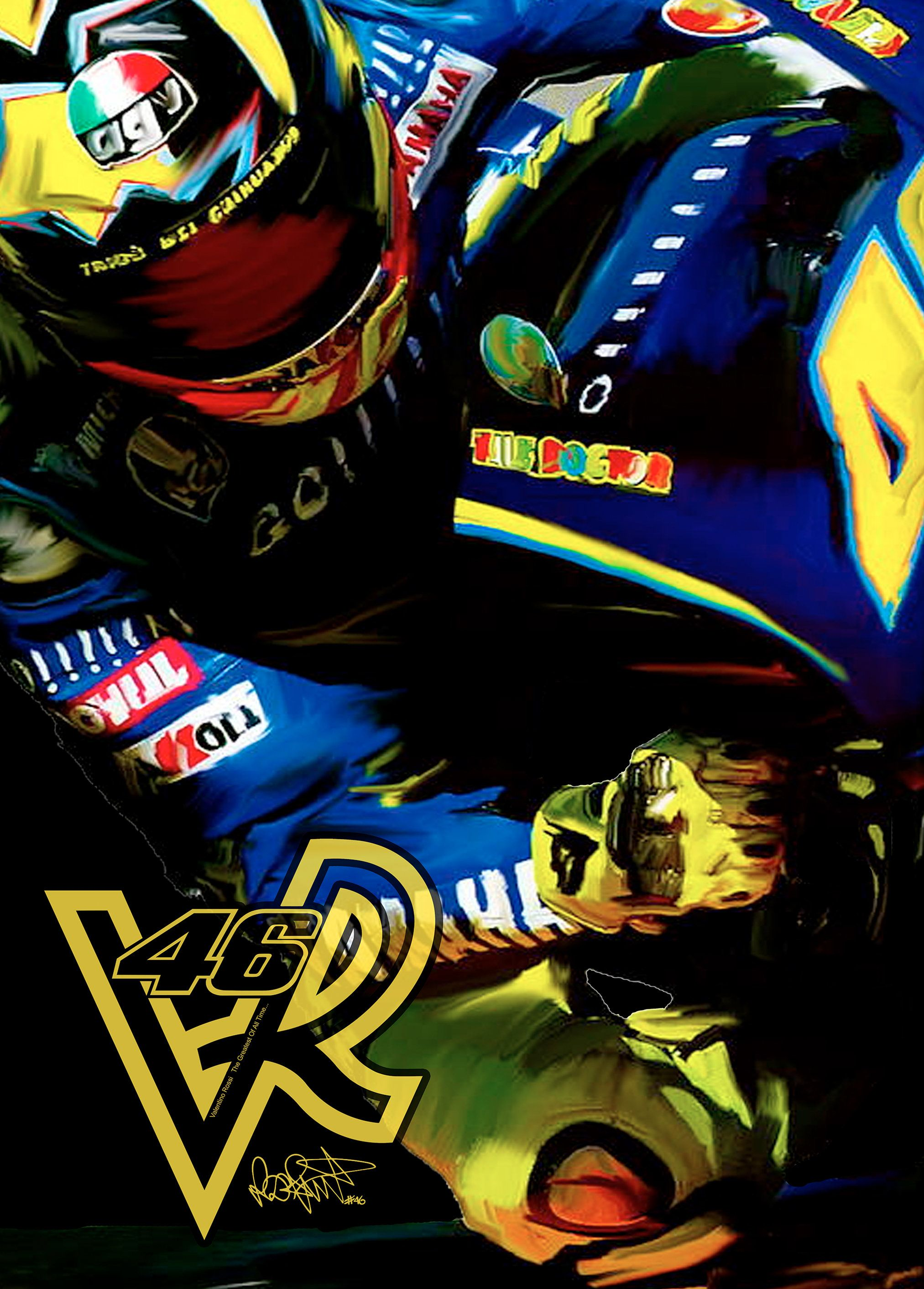 Marquez Vs Rossi Canvas Wall Art