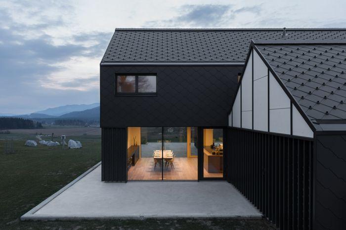 satteldach haus - schönes fertighaus modell in schwraz | house ...