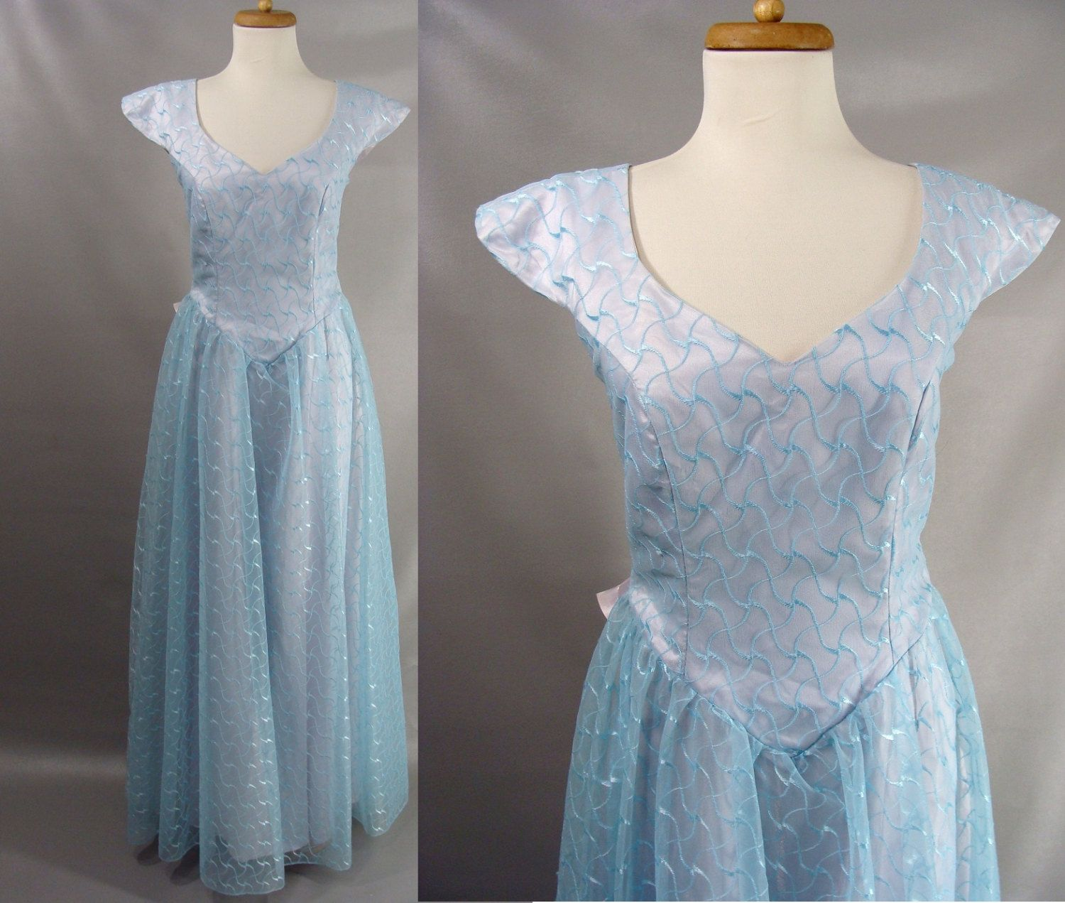 62 22 As Is Vintage 70s Prom Dress 40s Style Blue Lace And Purple Satin Formal Gown Or Customizable Zombie Costu Dresses Lace Blue Dress Dress Measurements [ 1271 x 1500 Pixel ]
