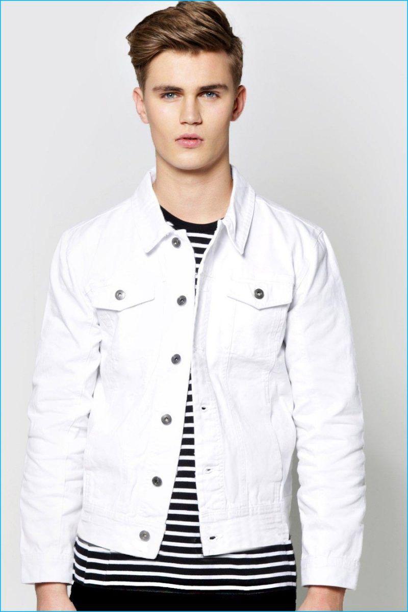 Joe Jonas Dnce Cover Fault Talk Chemistry White Denim Jacket Mens Men S Denim Style White Denim Jacket