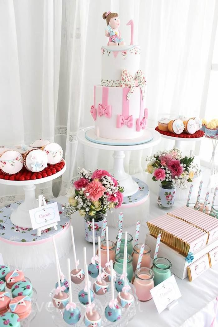 Shabby Chic First Birthday Party Ideas Planning Decor Cake Idea