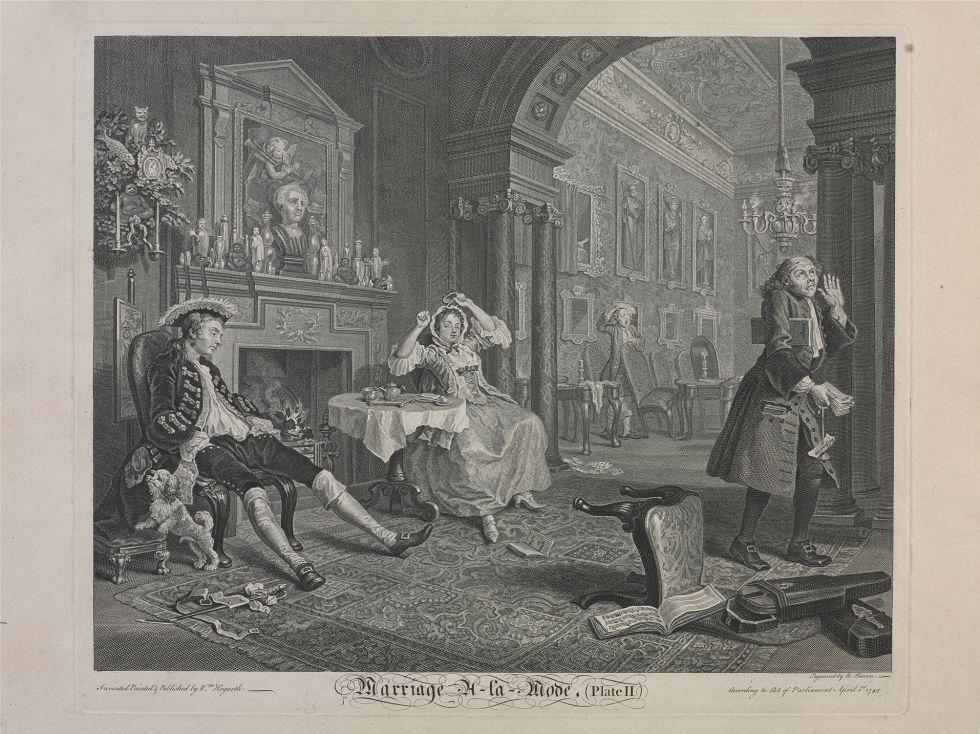 William Hogarth 1697 1764 Matrimonio A La Moda La Manana
