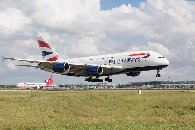Airbus A380 touches down at Stansted for the first time