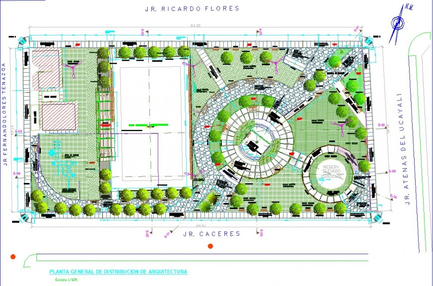 Municipal Park Site Plan Drawing In Dwg File In 2020 Site Plan Drawing Site Plan Plan Drawing