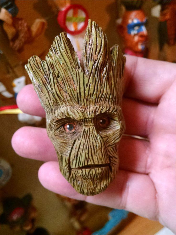 Groot By Chris Gardea Wood Carving Art Wood Carving