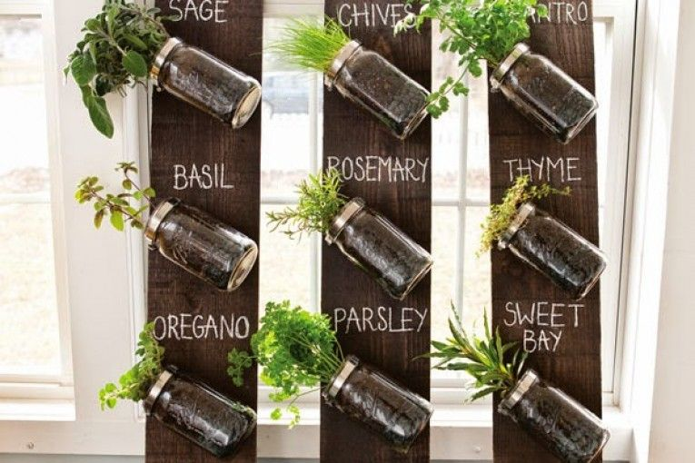 glass bottle wall is a diy you ll love to try mason jar on indoor herb garden diy wall vertical planter id=62754