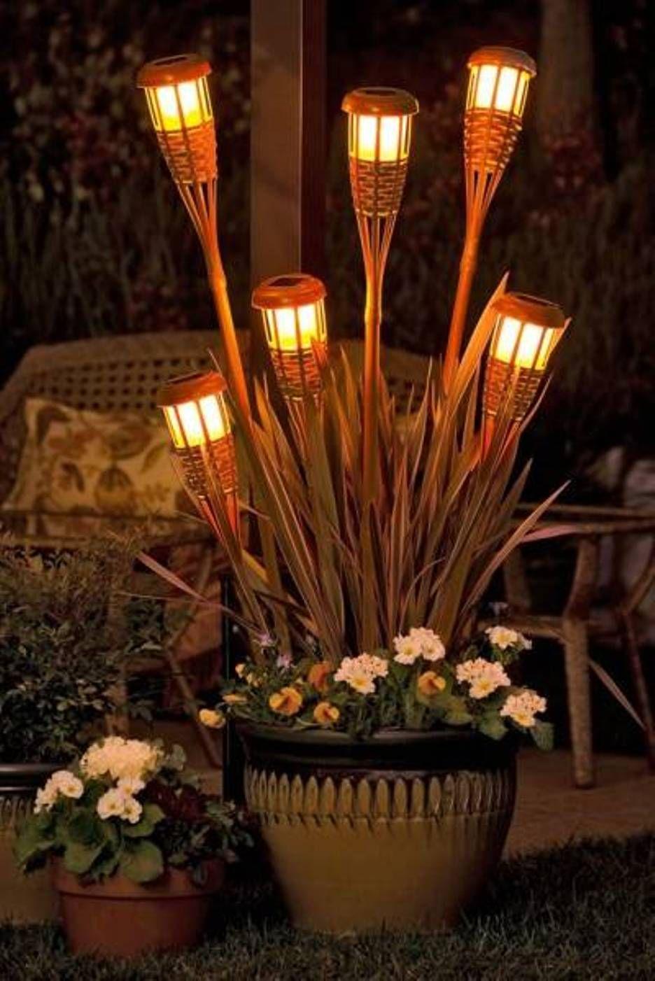 outdoor patio lighting ideas diy. Torches Outdoor Patio Lights : Stunning Decorative Gallery | DesignArtHouse.com - Lighting Ideas Diy