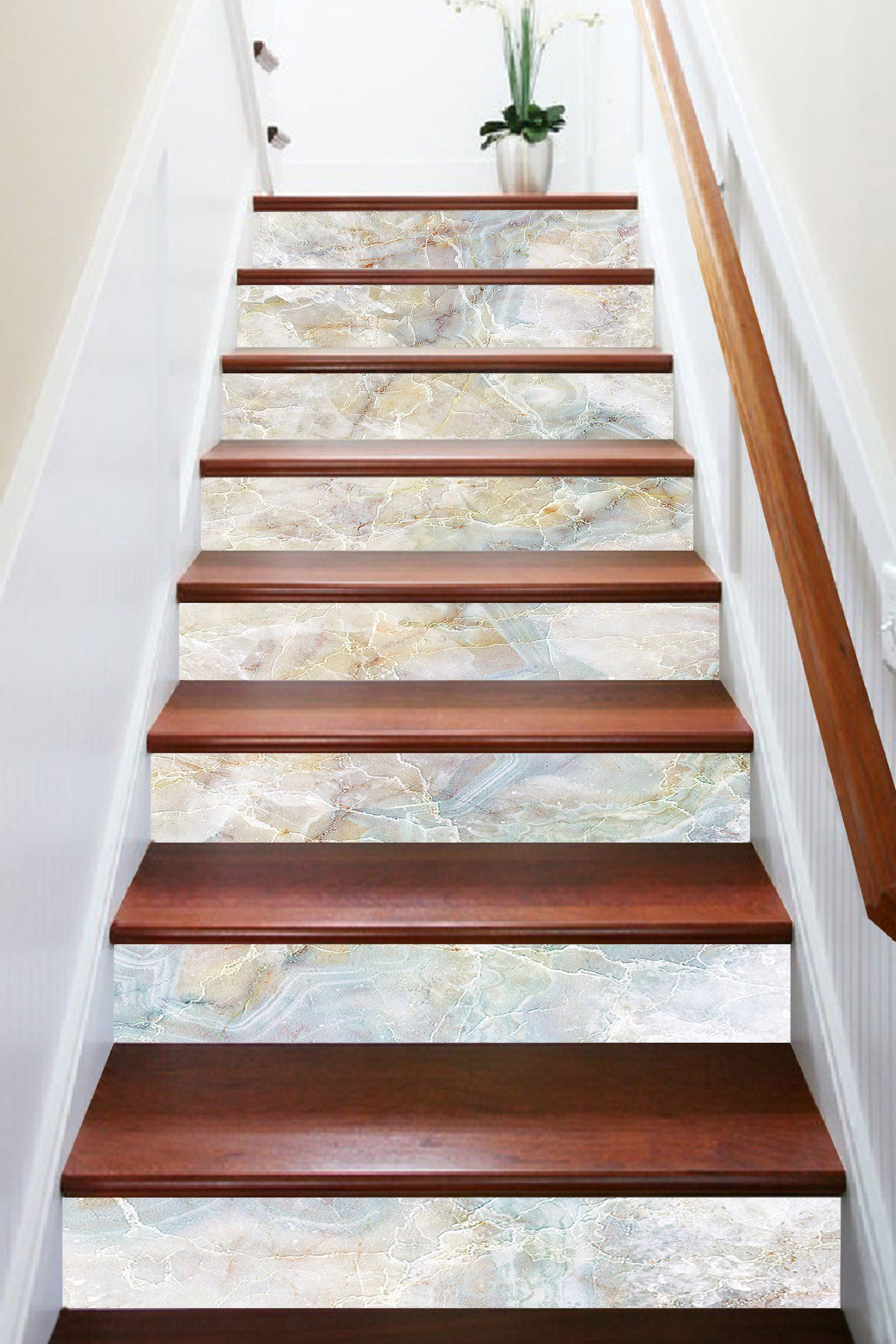 Best 3D Elegant Stone 433 Marble Tile Texture Stair Risers Stair Decor Stair Risers Tile Stairs 400 x 300