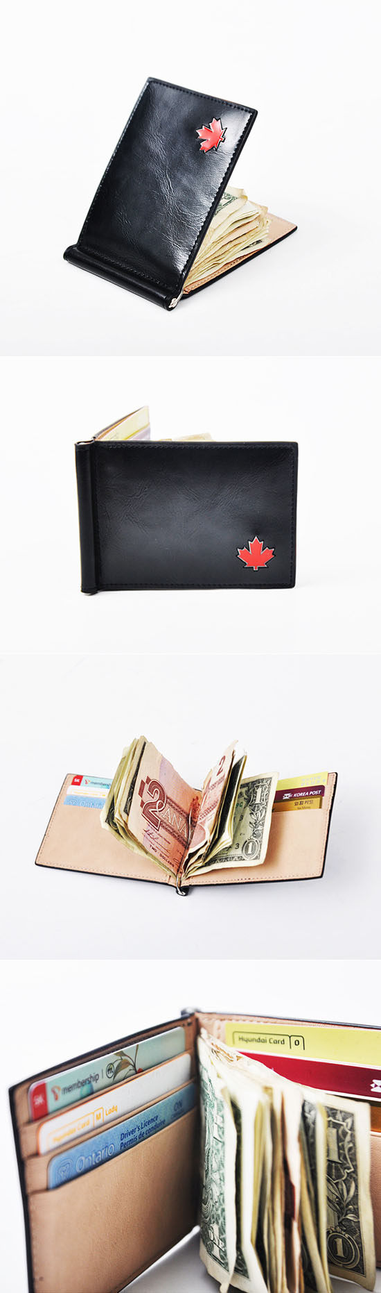 Accessories :: Wallets :: Designer Motive Canada Money Clip-Wallet 13 - Mens Fashion Clothing For An Attractive Guy Look