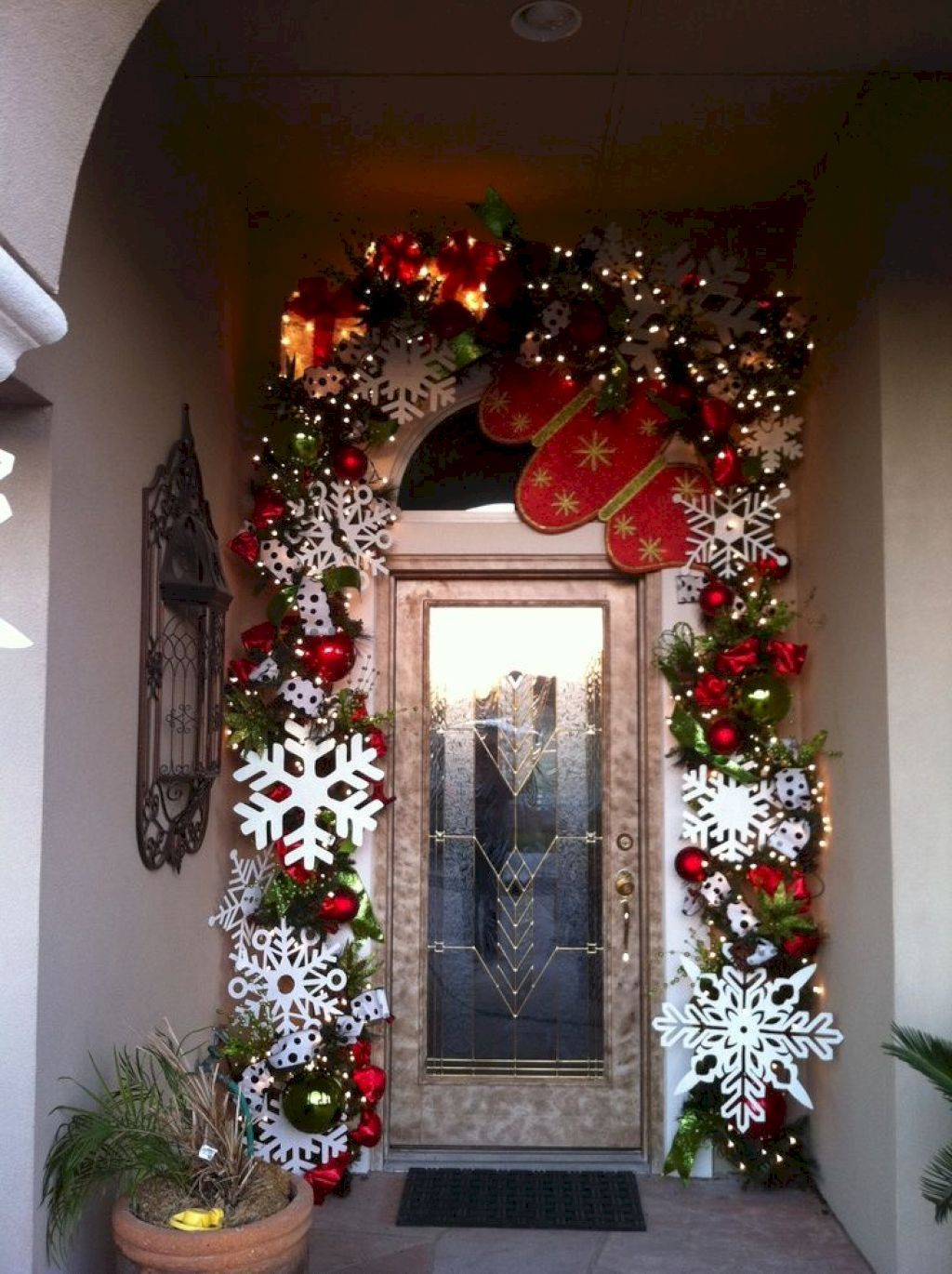 Outdoor porch christmas decorations   Christmas Porch Makeover Ideas  Christmas porch Porch makeover