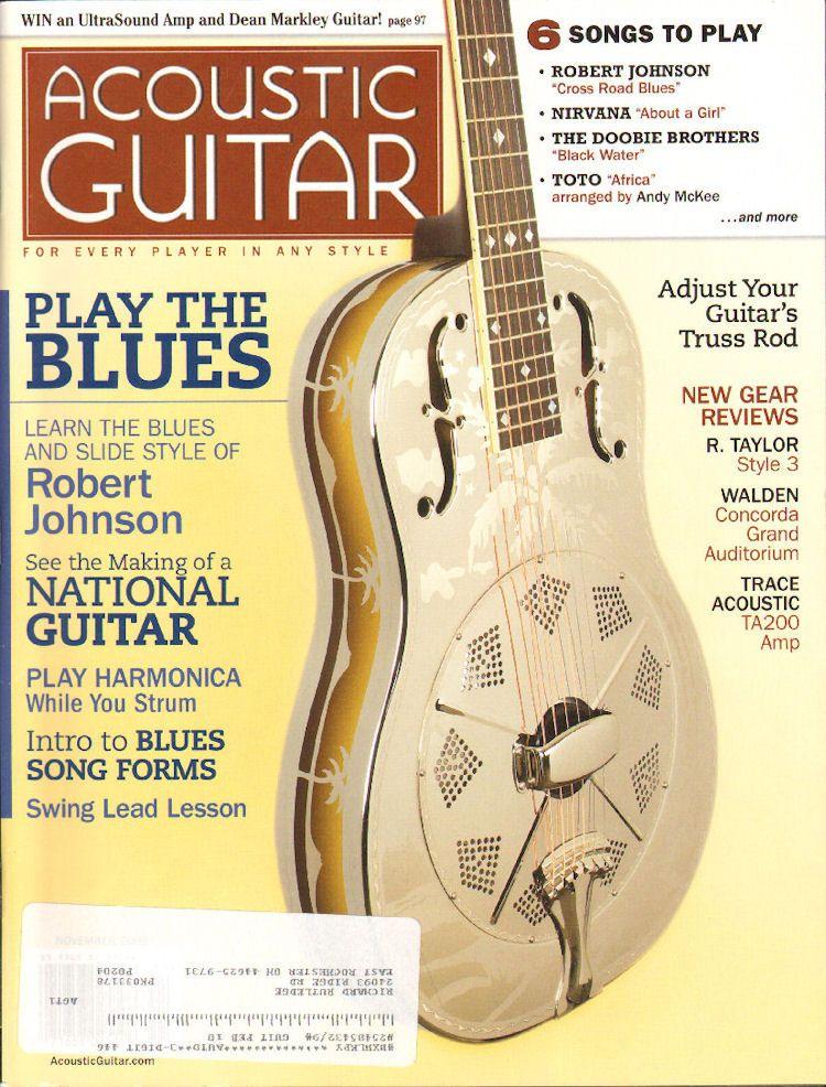 2009 November Acoustic Guitar Magazine Back Issue Acoustic Guitar Magazine Guitar Magazine Guitar