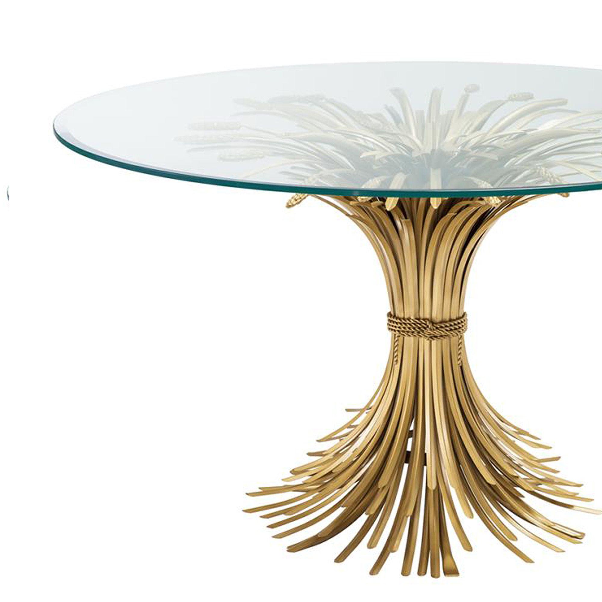 Halfronde Glazen Sidetable.Eichholtz Centre Table Bonheur O130 Cm Ronde Tafel 130cm