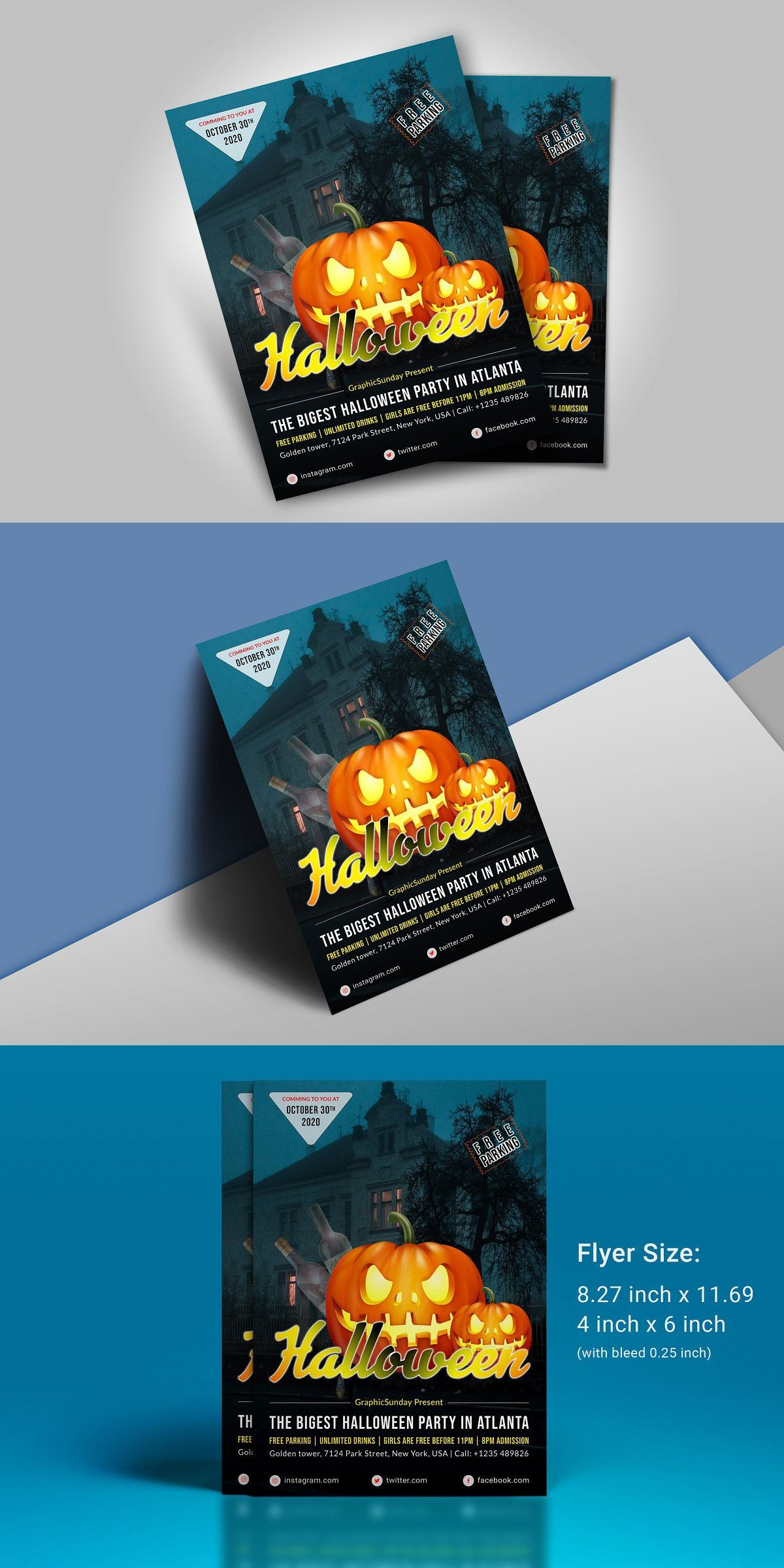 Halloween 2020 Party Flyer Halloween Flyer in 2020 | Halloween flyer, Halloween party flyer
