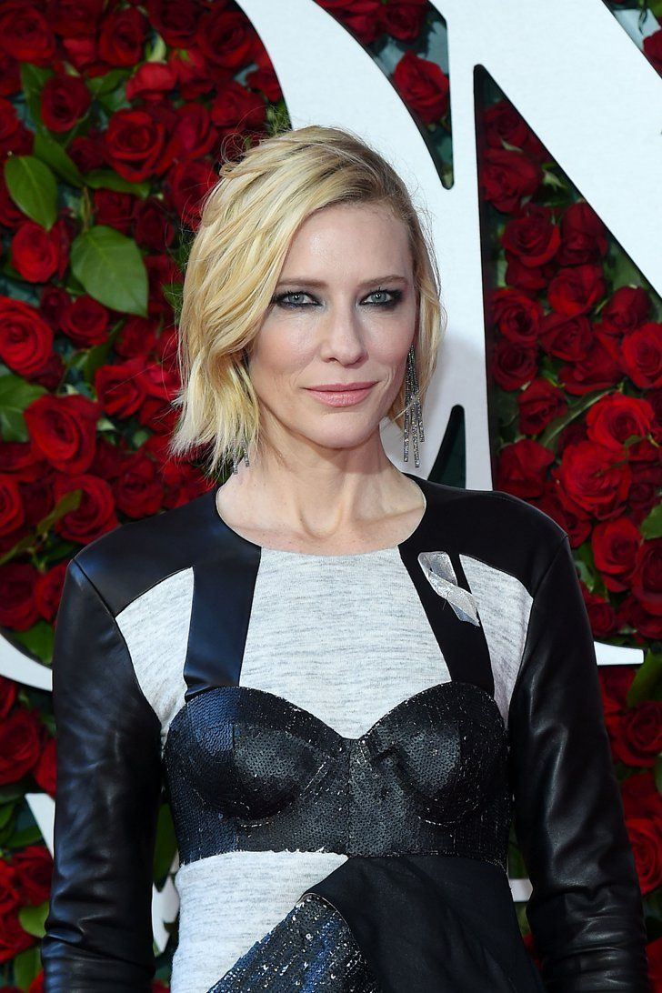 Pin for Later: 10 Stunning Hollywood Makeup and Hair Ideas From the 2016 Tony Awards Cate Blanchett Cate proves edgy black eyeliner is not just for 20-somethings. Her coveted porcelain skin and textured waves added to grunge-glam vibe.