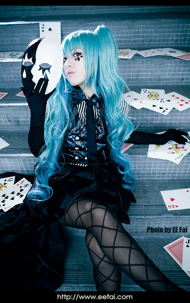 初音 未來 Hatsune Miku ミク Poker Face Cosplay Hatsune miku