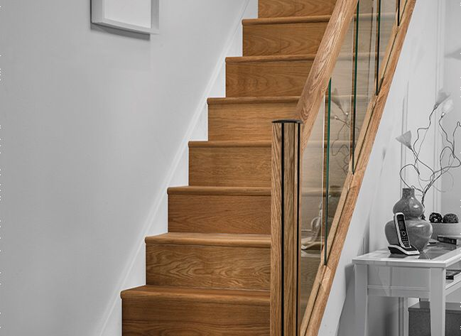 Best Oak Refurbishment Staircase With Oak Rails And 8Mm Small 400 x 300