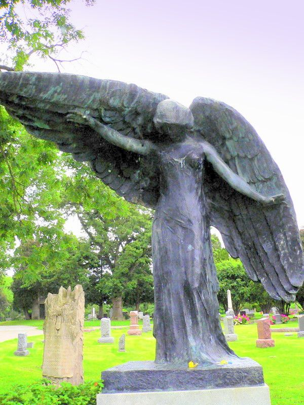The Black Angel Oakland Cemetary Iowa City Ia Angel Pictures