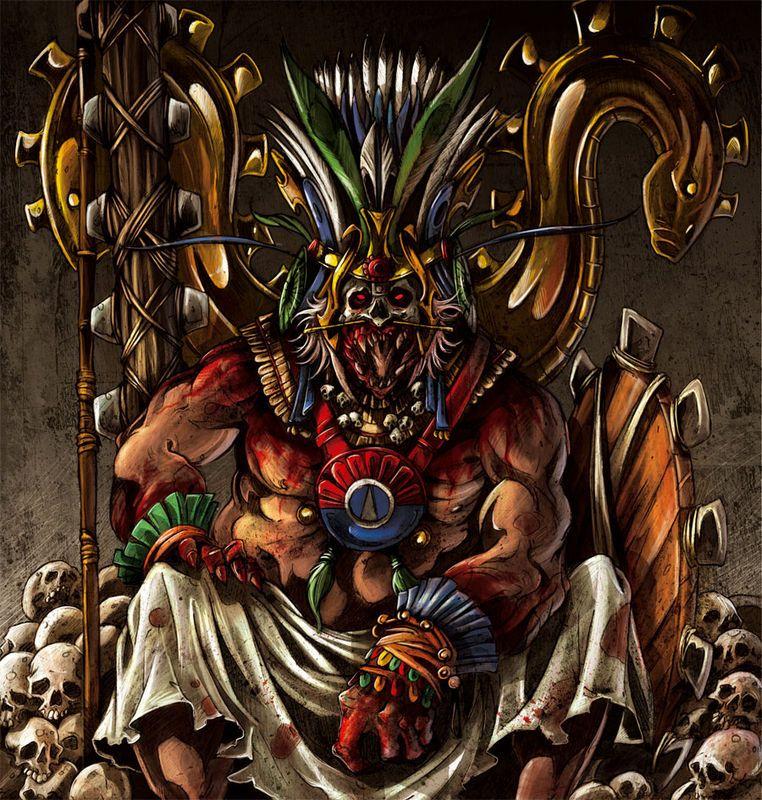 huitzilopotchi aztec god of war and of the sun chief god