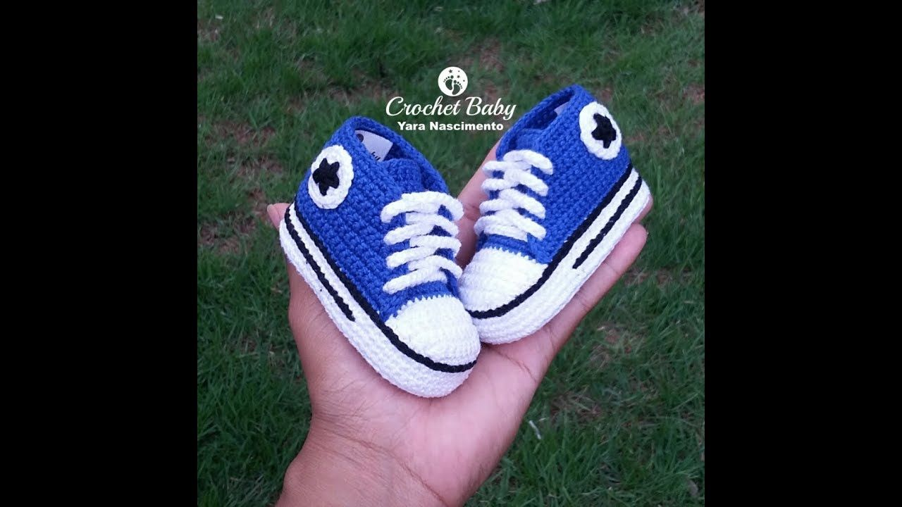 9153b8e98ab All Star Cano Longo de crochê -Crochet Baby Yara Nascimento