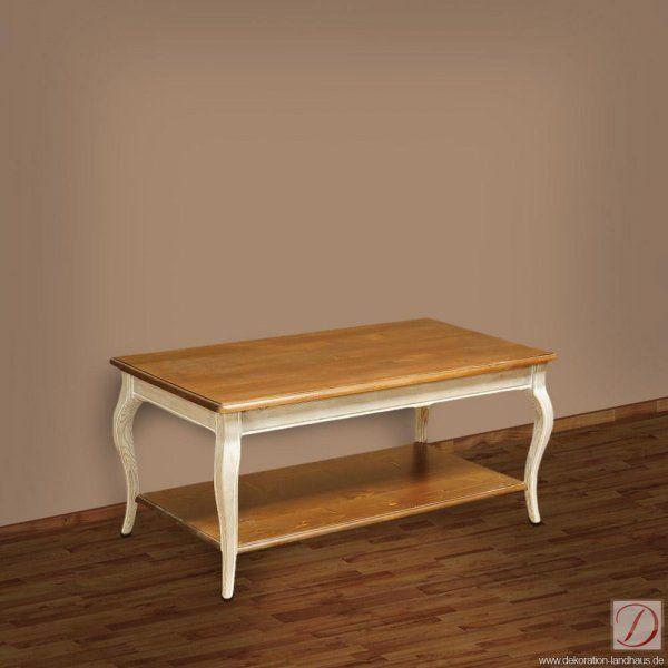 Fesselnd Couchtisch LILLE Weiß B110cm Pinie Massivholz   Als Zentrum Ihrer  Gemütlichen Sofalandschaft Oder Einfach Als Eleganter