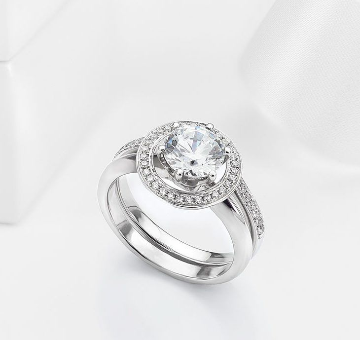 Adding A Halo To Solitaire Engagement Ring Enhancer Wedding Wraps