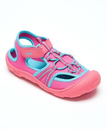 Newtz Pink \u0026 Aqua Open Water Shoe