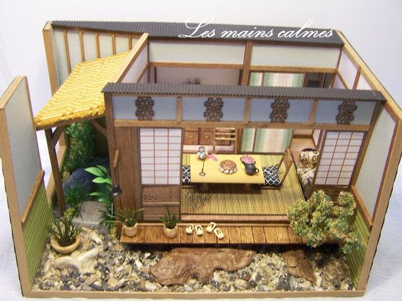 japanese style model diorama miniature miniatures pinterest vitrines miniature et maquettes. Black Bedroom Furniture Sets. Home Design Ideas