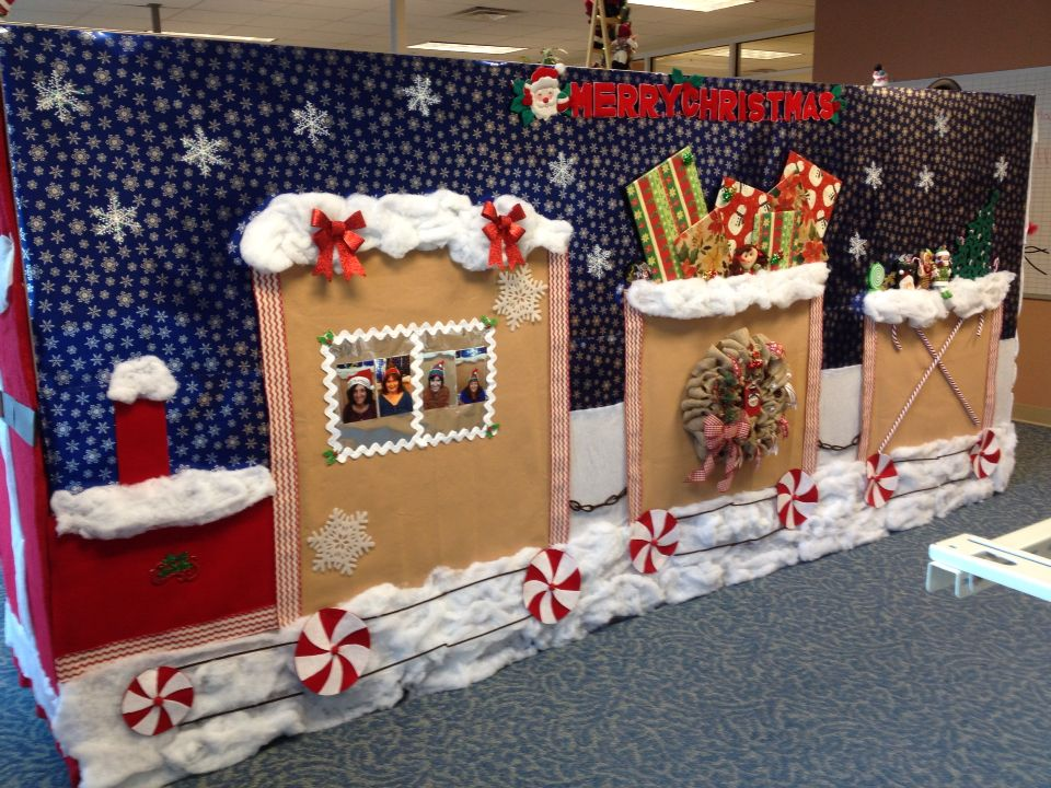 Cubicle christmas decorations crafts pinterest for Cubicle decoration xmas