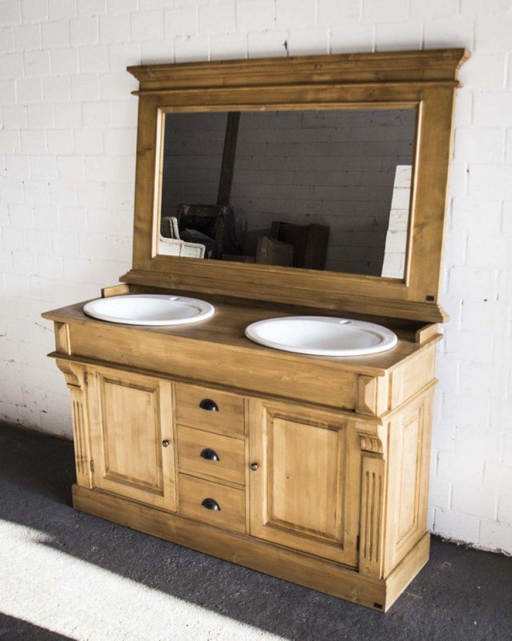 Waschtisch, Doppelwaschtisch Im Landhausstil, Spiegel Optional   Bad /  Waschtische / Badmöbel   Landhaus