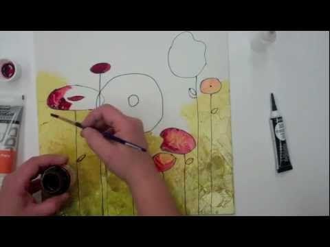 ▷ Pébéo - Vitrail sur toile - YouTube peinture vitrail sur toile