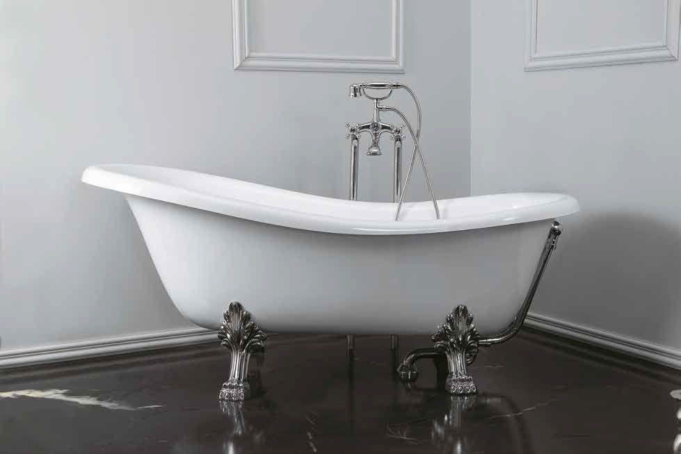 Vasca in ceramica consolle royal althea in stile belle - Sognare vasca da bagno ...
