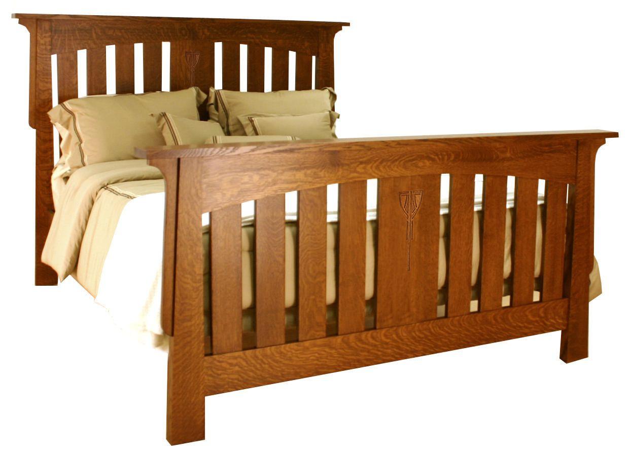 Aurora Slat Bed ACW-BD, Mission Style Beds, Bedroom, Mission Furniture